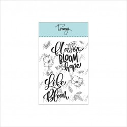 Tommy clear stamps – Blooming by Lettersofme
