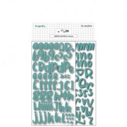 Alfabeto in fommy adesivo Turchese - DIY e Cie