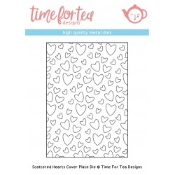 Fustella Time For Tea Scattered Hearts Cover Plate Die