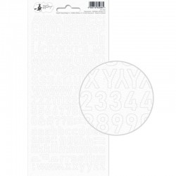 P13 PIATEK ALPHABET STICKER SHEET NEW MOON 01 10,5 X 23CM