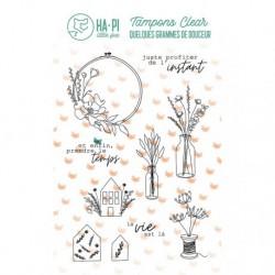 Timbri Clear Stamps HA-PI Little Fox - La vie est là