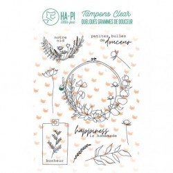 Timbri Clear Stamps HA-PI Little Fox - Notre nid