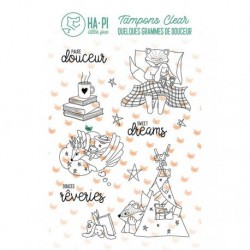 Timbri Clear Stamps HA-PI Little Fox - Les rêves d'Hapi