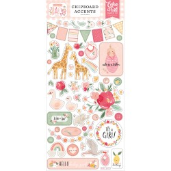 Echo Park Welcome Baby Girl 6x13 Inch Chipboard Accents