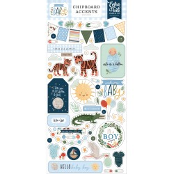 Echo Park Welcome Baby Boy 6x13 Inch Chipboard Accents
