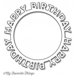 Fustella My Favorite Things Die-Namics Happy Birthday Circle Frame