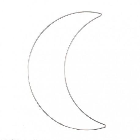 Filo di metallo a forma di Luna 32cm 3mm