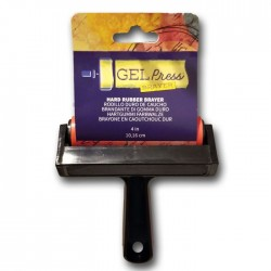 Gel Press • Hard Rubber Brayer 10.16cm