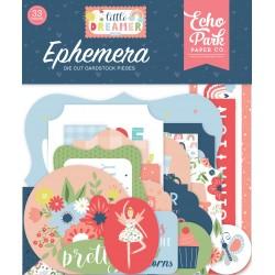 Echo Park Little Dreamer Girl Ephemera