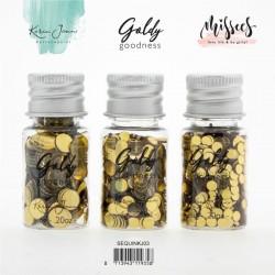 Studio Light • Sequins set Karin Joan Missees collection Goldy nr.03 3pz