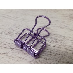 Clip in metallo Viola