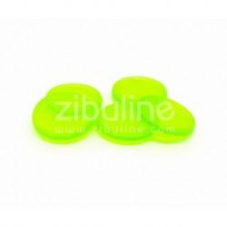 Dischi per rilegatura 24mm - Verde trasparente