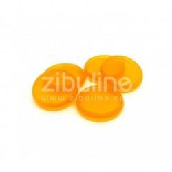 Dischi per rilegatura 24mm - Arancione trasparente