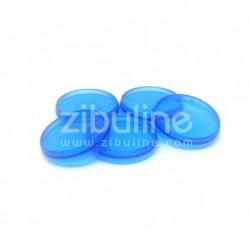 Dischi per rilegatura 24mm - Blu trasparente
