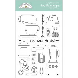 Timbro Doodlebug - Made With Love Doodle Stamps