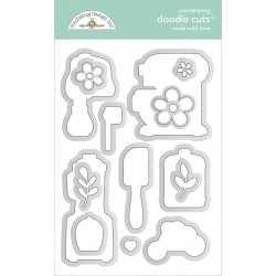 Fustella Doodlebug Design - Made With Love Doodle Cuts