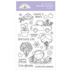 Timbro Doodlebug Design - Flower Girl Doodle Stamps