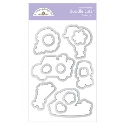 Fustella Doodlebug Design - Flower Girl Doodle Cuts