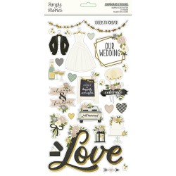 Simple Stories - Happily Ever After Chipboard