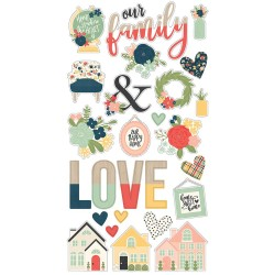 Simple Stories - So Happy Together Chipboard