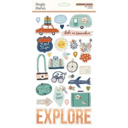 Simple Stories - Safe Travels Chipboard