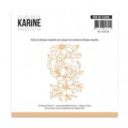 Set Fustelle Les Atelier de Karine - Bienvenue chez moi Trio de fleurs