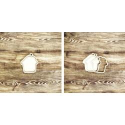 Portachiavi casa shaker in legno - Krea