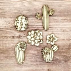 Cactus - Abbellimenti in legno - Krea