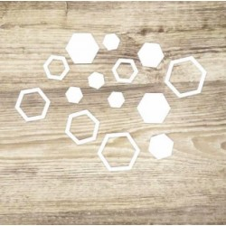 Esagoni - Abbellimenti in acrilico bianco - Krea