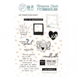 Timbri Clear Stamps HA-PI Little Fox - Week end