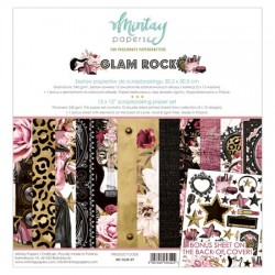 """Paper pack Mintay Glam Rock 30x30 cm (12""""x12"""")"""