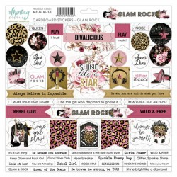 Chipboard stickers Mintay Glam Rock