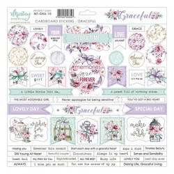 Chipboard stickers Mintay Graceful