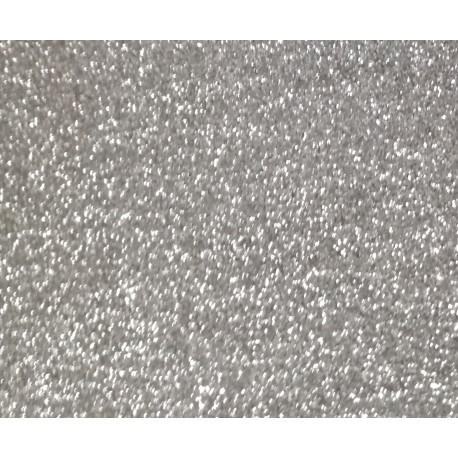 Vinile termoadesivo Argento glitter 30x50cm