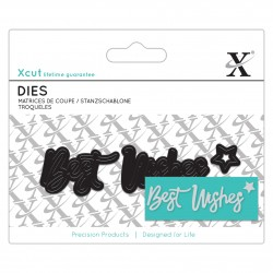 XCUT Mini Sentiment Die (3pz) - Best Wishes