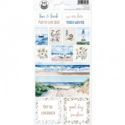 P13 PIATEK STICKER SHEET BEYOND THE SEA 02 10,5 X 23CM