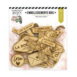 Embellissements Bois Florileges Design DOLCE VITA