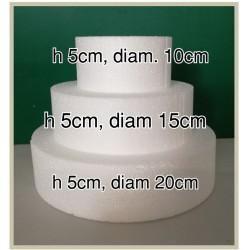 Set 3 basi in polistirolo ad alta densità (h5/diam 10,15,20)