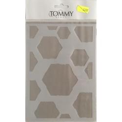 Stencil Tommy Art A5 - Acquarello esagoni misti 2