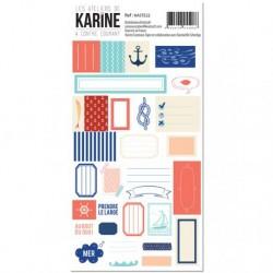 Stickers étiquettes A contre courant - Les Atelier De Karine