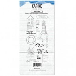 Timbri Clear Stamps Les Atelier de Karine - A contre courant Bord de mer