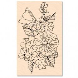 Timbri in legno Les Atelier de Karine - A contre courant Fleurs d'été