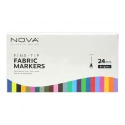 Pennarelli per tessuti a punta fine Trimcraft Nova Fabric Markers Fine-Tip