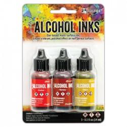 Ranger • Tim Holtz Alcohol Inks Ember Sienna Dijon set 3pz