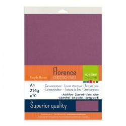 Confezione 10 fogli Black Florence texture A4 216gr