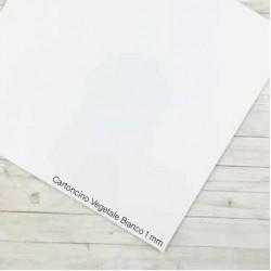 "Cartoncino Vegetale Bianco Tommy 12x12"" 1mm"