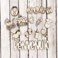 Baby Boy - Abbellimenti in legno - Krea