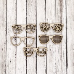 Occhiali - Abbellimenti in legno - Krea