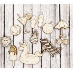 Piscina - Abbellimenti in legno - Krea