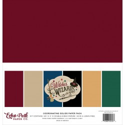 Echo Park Witches & Wizards No.2 12x12 Inch Coordinating Solids Paper Pack
